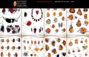 Katalog ekskluzywnej biżuterii z bursztynu zaprojektowany przez Entera Studio WWW - strona startowa