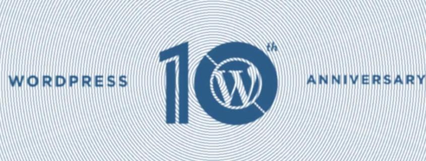 Oficjalna grafika z okazji 10. urodzin Wordpressa