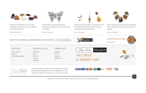 Sklep internetowy z bursztynową biżuterią - przegląd kategorii