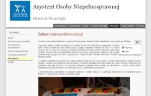 Asystent Osoby Niepełnosprawnej - narzędzia użytkownika