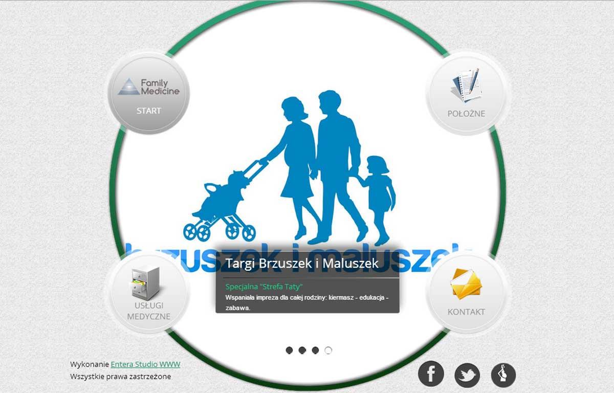 Strona www marki Family Medicine - aktualności