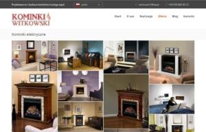 Nowa strona www Kominki Witkowski - galeria