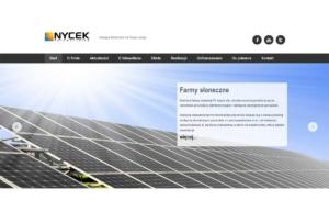 Strona www NYCEK Fotowoltaika - strona główna