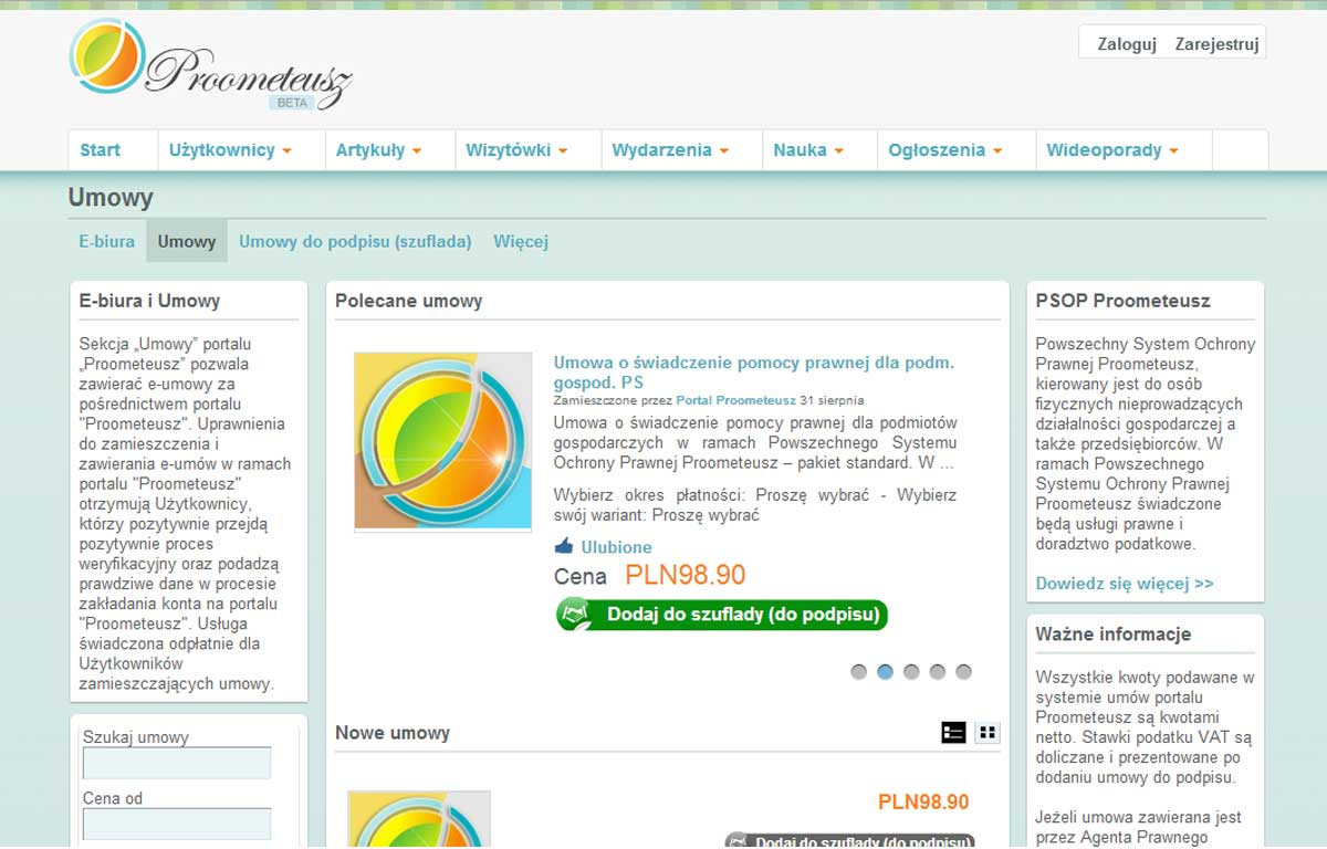 Portal Proometeusz - e-biura