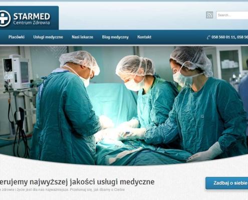 Strona www NZOZ Starmed - strona startowa