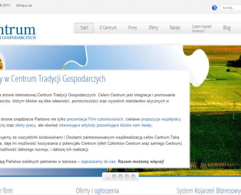 Centrum Tradycji Gospodarczych - strona startowa