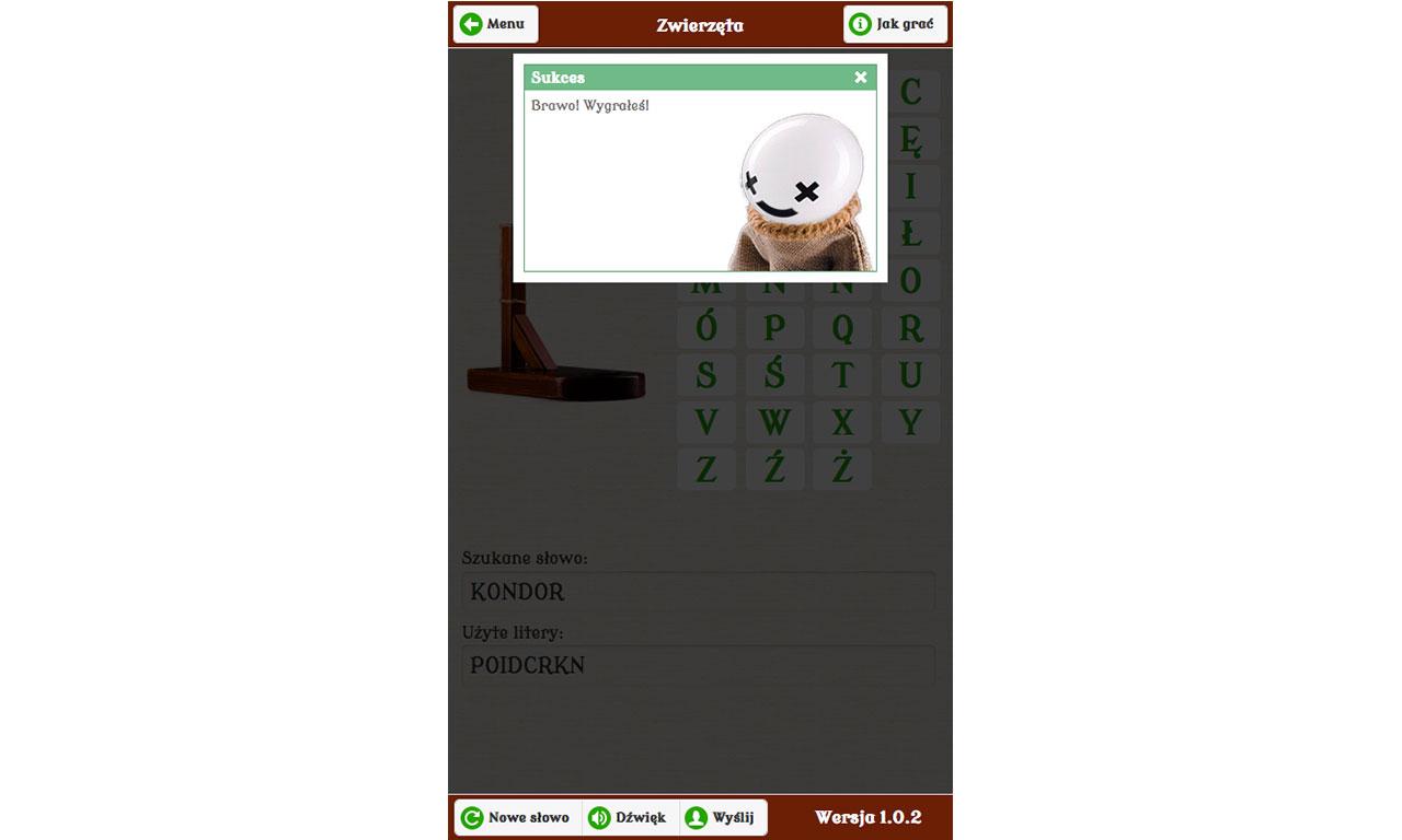 Wisielec - gra dostępna dla iOS, Android i Windows Phone
