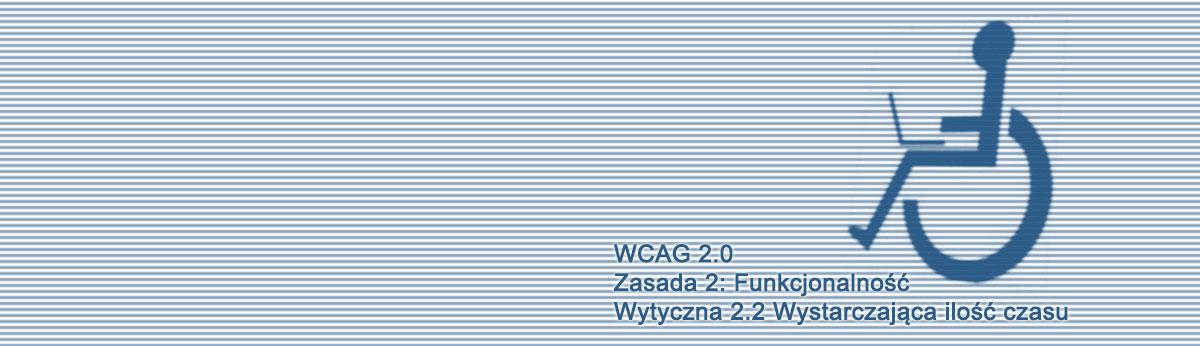 Kompendium WCAG 2.0, Wytyczna 2.2 Wystarczająca ilość czasu