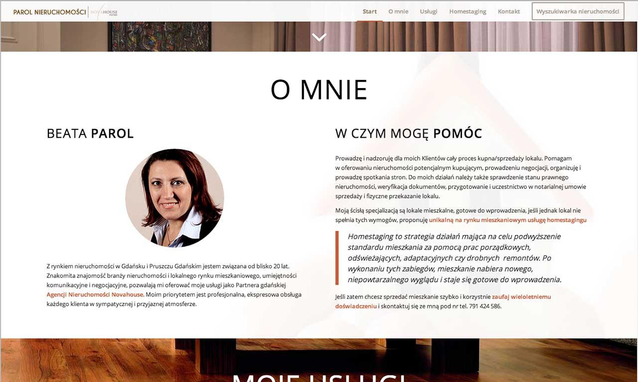 Strona www Parol House - prezentacja