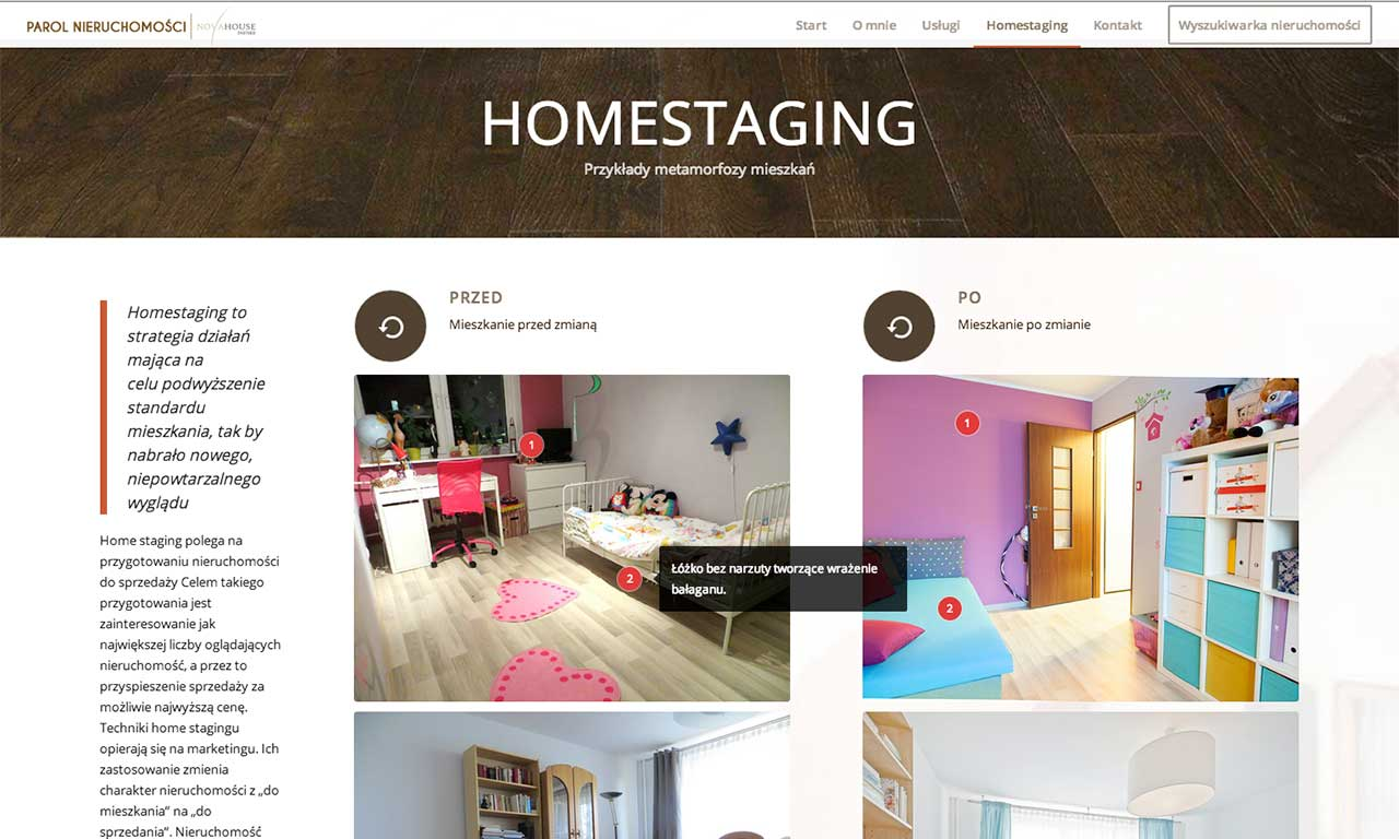 Strona www Parol House - homestaging