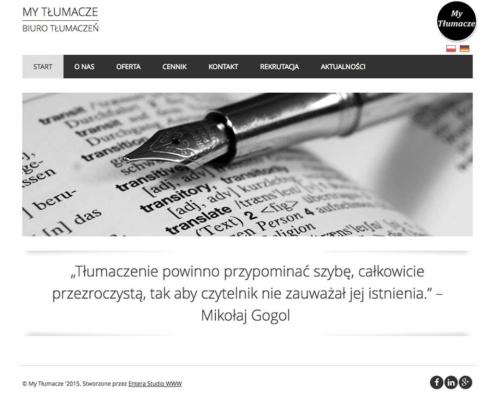 My Tłumacze - biuro tłumaczeń online zaprojektowane przez Entera Studio WWW - strona główna