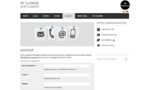 My Tłumacze - biuro tłumaczeń online zaprojektowane przez Entera Studio WWW - prześlij pliki do wyceny