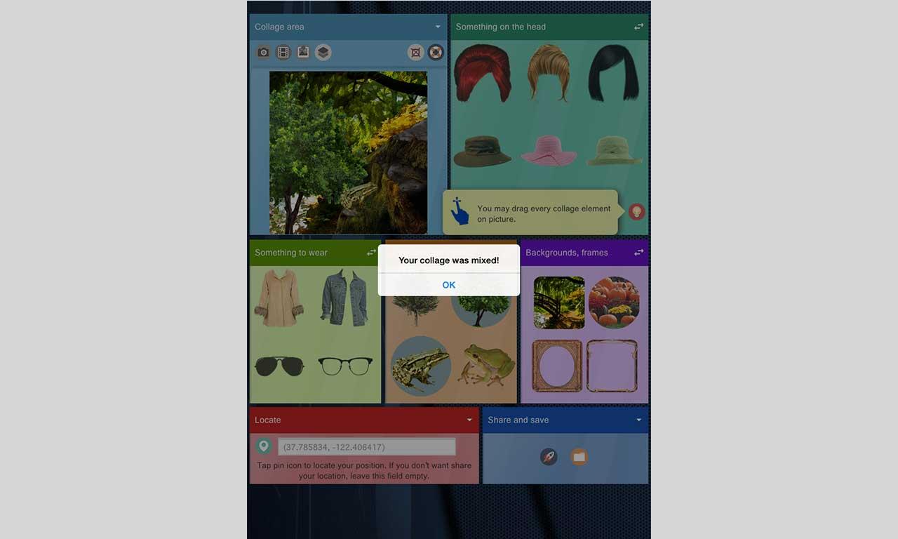 Collaser, zaawansowany edytor kolaży - smartfon
