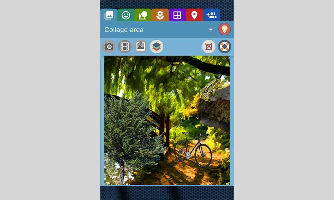 Collaser, zaawansowany edytor kolaży - smartfon strona startowa