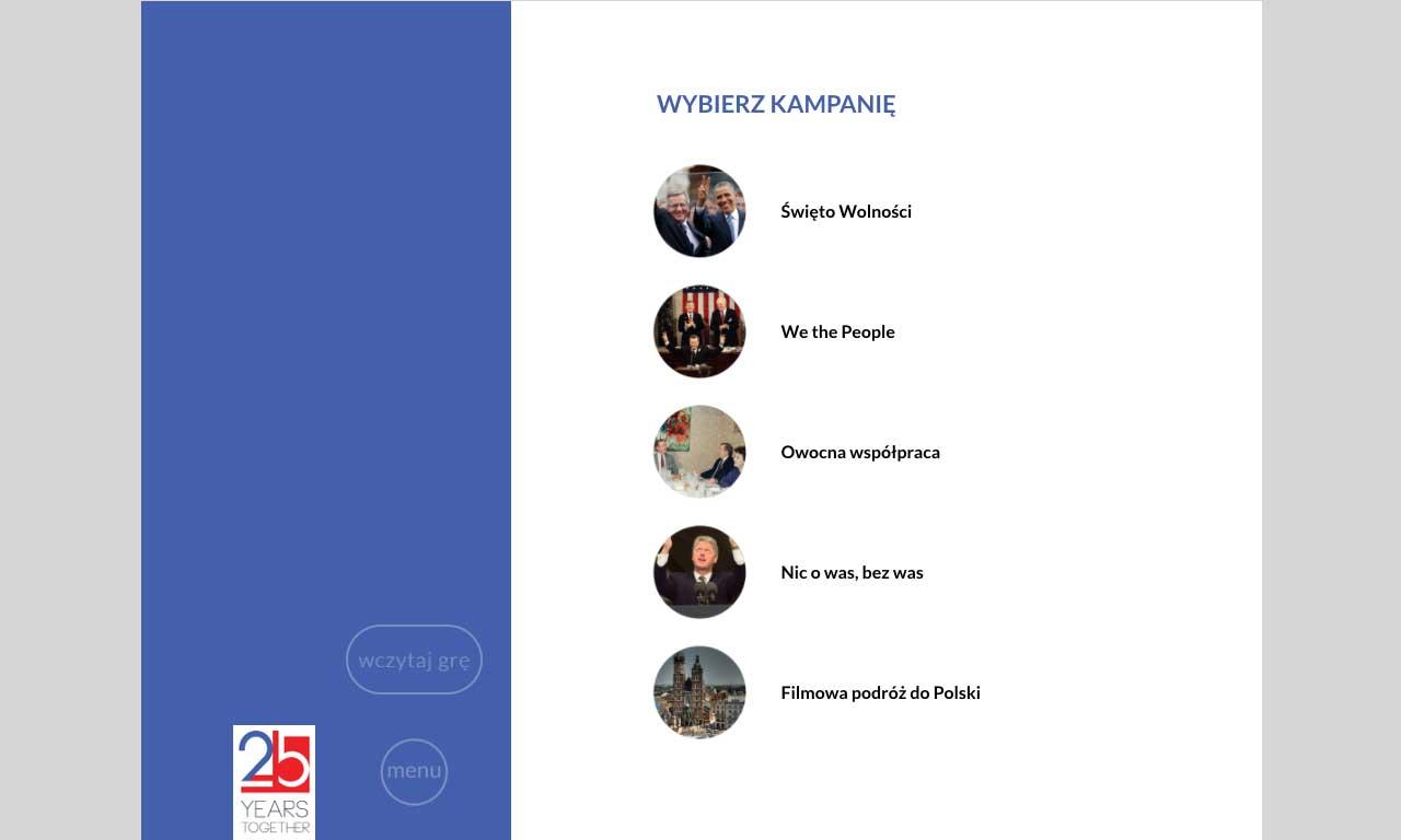 Zostań Dyplomatą - gra dla systemu iOS - wybór kampanii