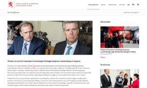 Strona www Konsulatu Honorowego Wielkiego Księstwa Luksemburga - strona główna