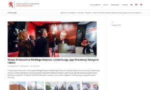 Strona www Konsulatu Honorowego Wielkiego Księstwa Luksemburga - aktualności