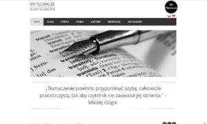 Strona www dla biura tłumaczeń My Tłumacze - strona główna