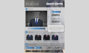 Aplikacja mobilna M.Underwood - wersja iPad