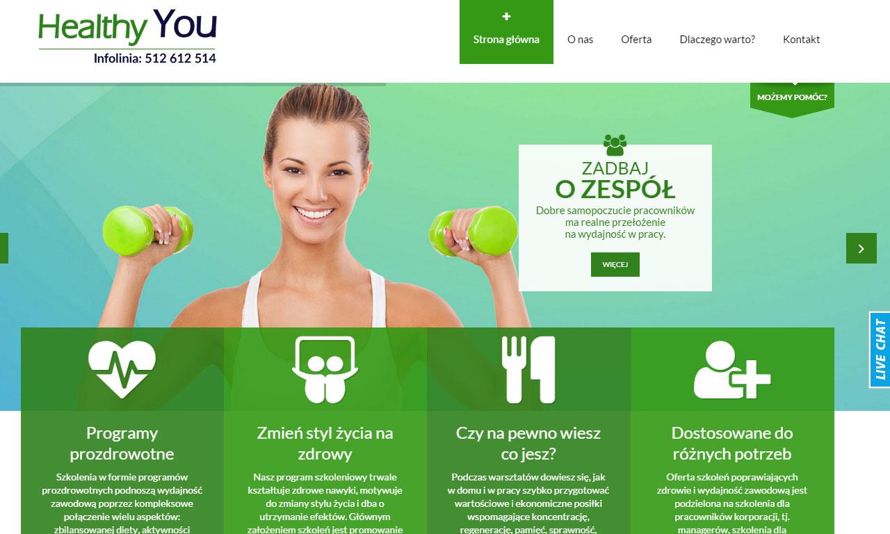 Strona www firmy HeYou Szkolenia autorstwa Entera Studio WWW - strona główna