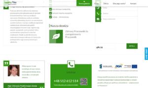 Strona www firmy HeYou Szkolenia autorstwa Entera Studio WWW - fundusze EU