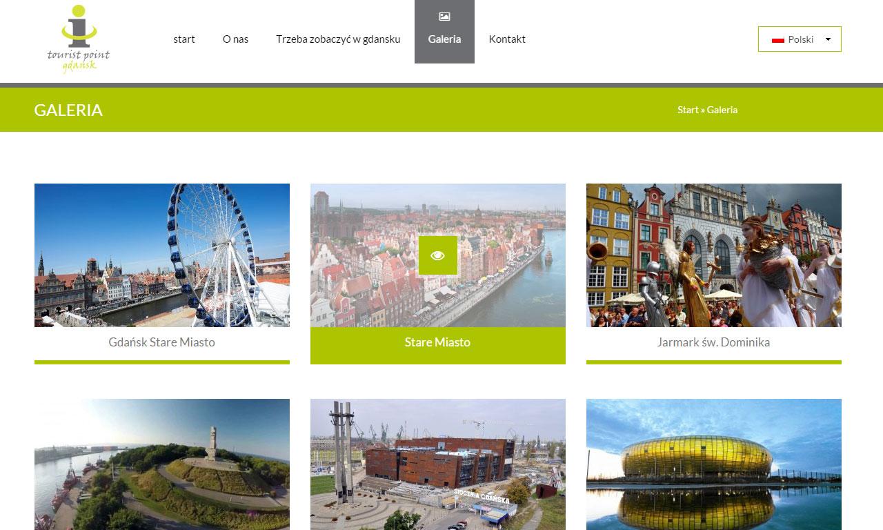 Strona Tourist Point Gdańsk autorstwa Entera Studio WWW - galeria