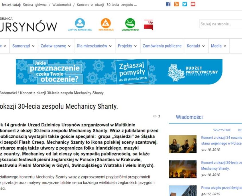 Ursynów.pl zgodny ze standardem WCAG 2.0 - podwyższona czytelność