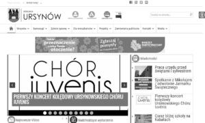Ursynów.pl zgodny ze standardem WCAG 2.0 - tryb szarości