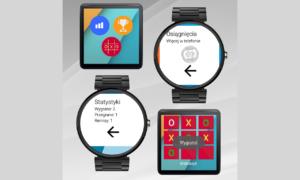 Gra Kółko i Krzyżyk na zegarki z Android Wear - layout dla zegarków prostokątnych