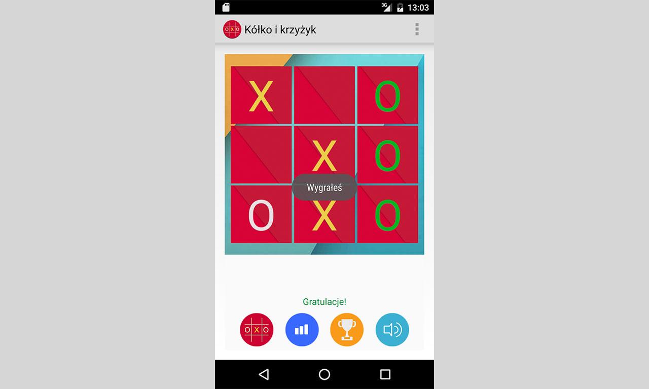 Gra Kółko i Krzyżyk na zegarki z Android Wear - wersja dla telefonów