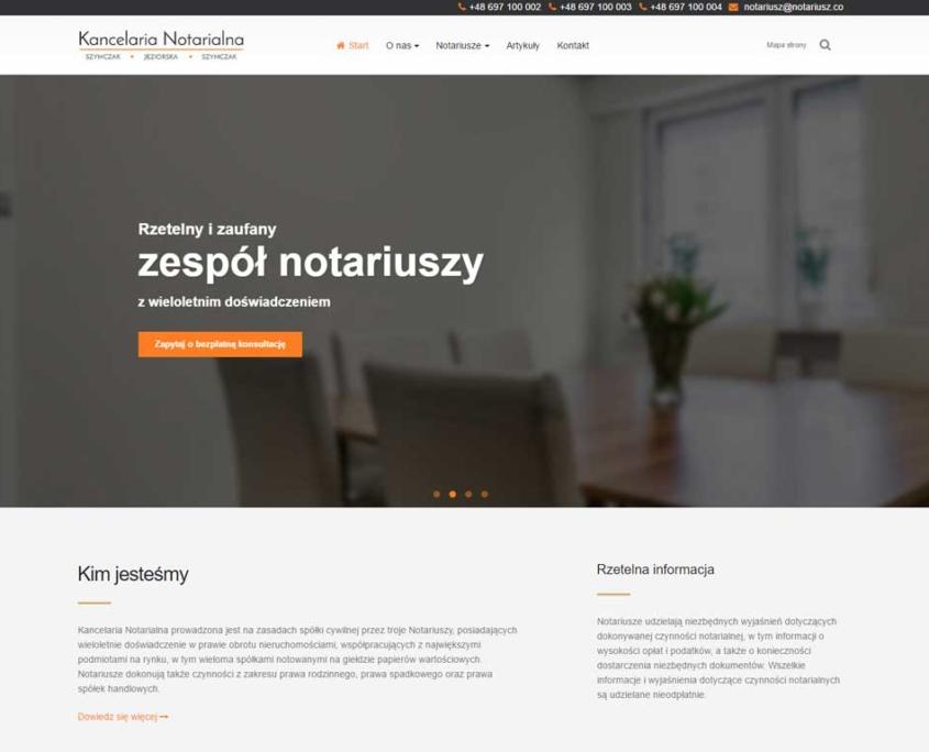 Nowa strona www Kancelarii Notarialnej Ogrodowa