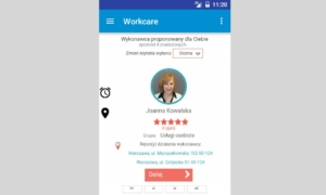 Workcare - aplikacja wybór wykonawcy