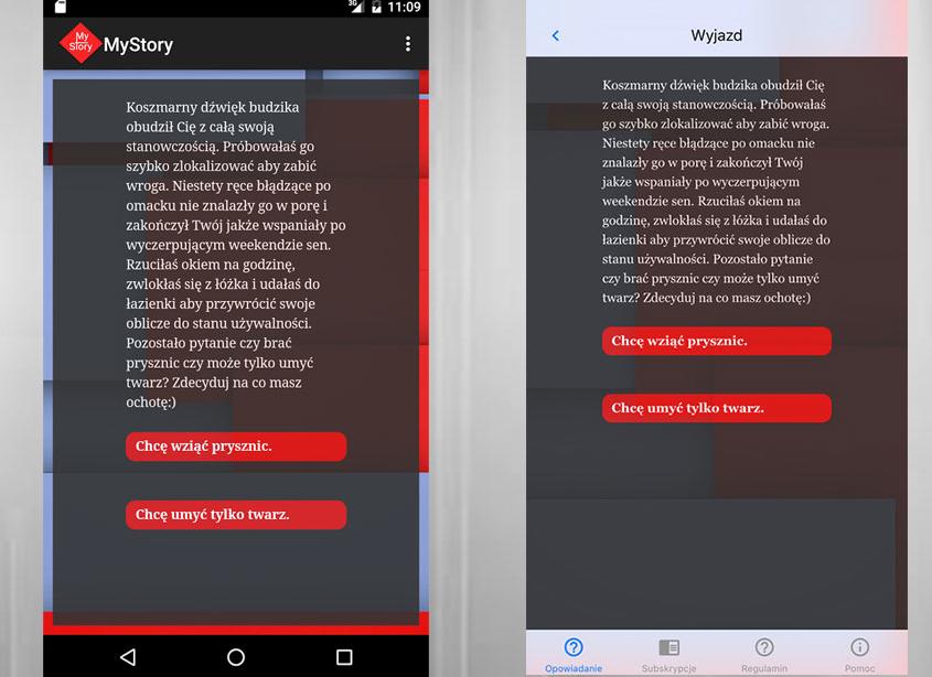 My story to aplikacja sprzedażowa - jej celem jest sprzedaż interaktywnych opowiadań