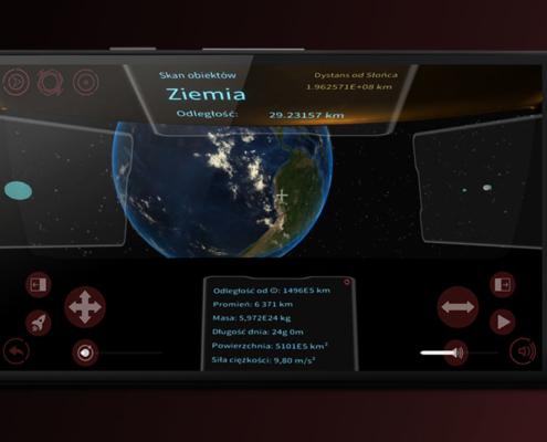 Układ Słoneczny to aplikacja edukacyjna połączona z grą, kierowana do młodzieży szkolnej.