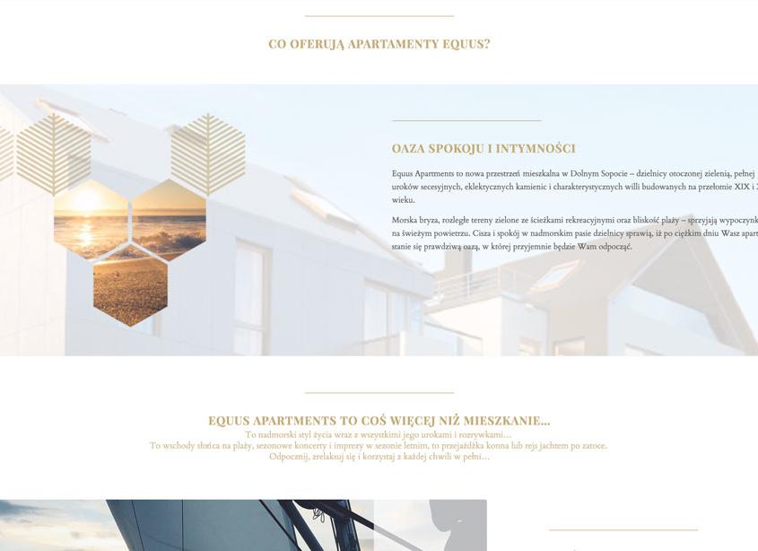 Strona www w konwencji one page dla inwestycji developerskiej - Equus Apartments