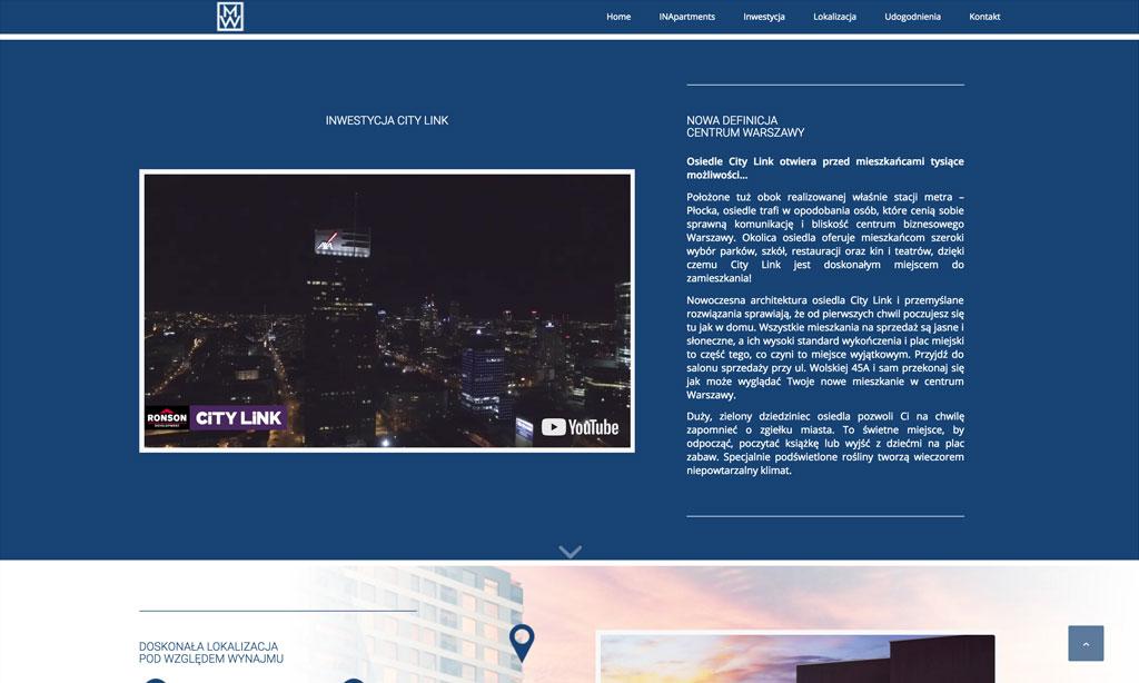 Strona www inwestycji Magna Wola w centrum Warszawy