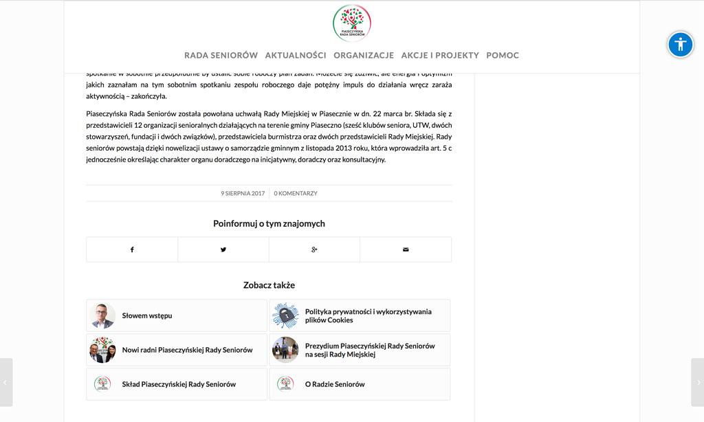 Portal Piaseczyńskiej Rady Seniorów