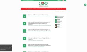 Strona www CUW - system publikacji ogłoszeń i przetargów w pełni zgodny z WCAG 2.0.