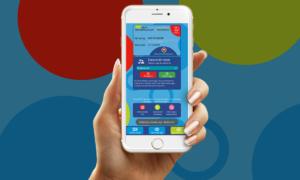 Aplikacja karty miejskiej Gminy Piaseczno dla telefonów z systemem iOS i Android.