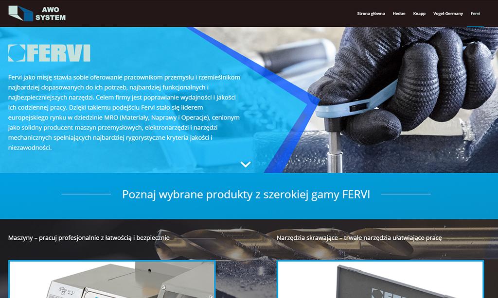 Strona WWW Awo-System - strona producenta
