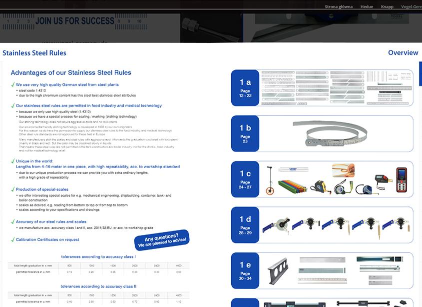 Strona WWW Awo-System - interaktywny katalog producenta