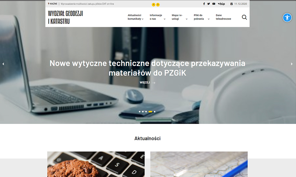 Portal Wydziału Geodezji i Katastru Powiatu Piaseczyńskiego - strona główna