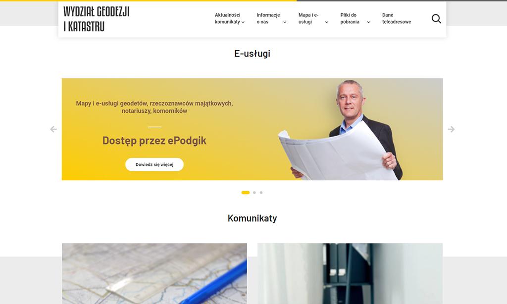 Portal Wydziału Geodezji i Katastru Powiatu Piaseczyńskiego - e-usługi