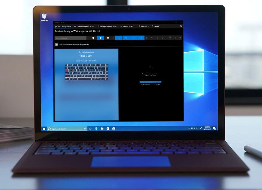 Aplikacja Pomocnik WCAG 2.1 - test obsługi strony WWW klawiaturą