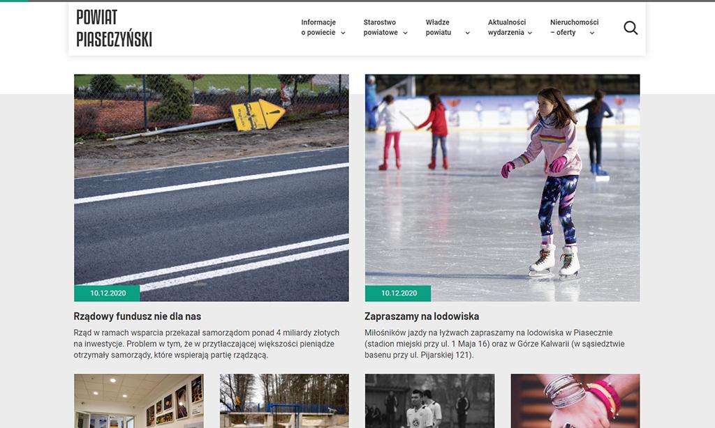 Portal Powiat Piaseczyński - strona główna sekcja aktualności