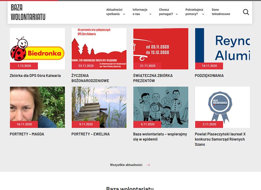 Portal Baza Wolontariatu Powiatu Piaseczyńskiego - akcje i działania