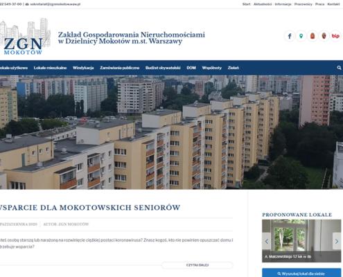 Portal Zakładu Gospodarki Nieruchomościami Mokotów Warszawa - strona główna