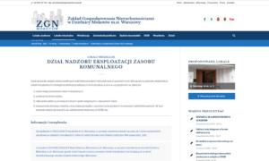 Portal Zakładu Gospodarki Nieruchomościami Mokotów Warszawa - sekcje informacyjne